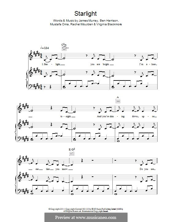 Starlight (Wonderland): For voice and piano by James R. Murray, Ben Harrison, Mustafa Oma, Rachel Moulden, Virginia Blackmore