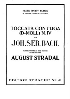 Toccata in D Minor, BWV 913: For piano by Johann Sebastian Bach