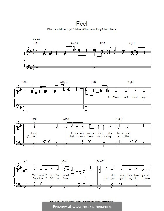 Feel: For easy piano by Guy Chambers, Robbie Williams
