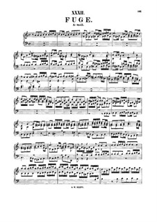 Fugue in A Minor, BWV 947: For harpsichord by Johann Sebastian Bach