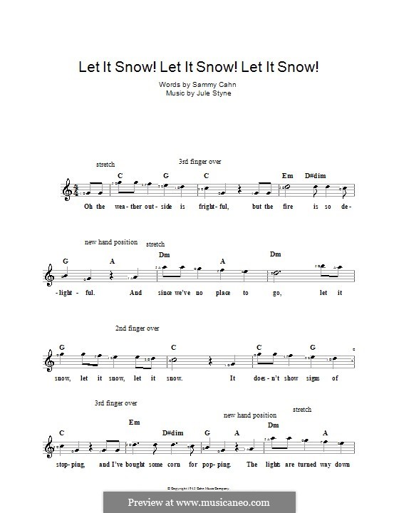 Let It Snow! Let It Snow! Let It Snow!: For keyboard by Jule Styne