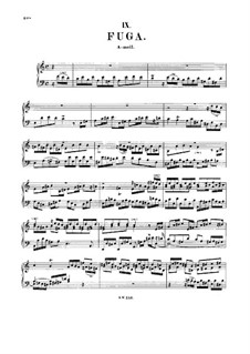 Fugue in A Minor, BWV 959: For harpsichord by Johann Sebastian Bach