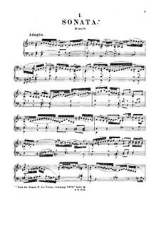 Sonata for Keyboard in D Minor, BWV 964: For a single performer by Johann Sebastian Bach