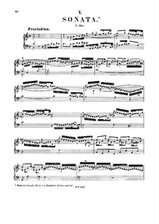 Sonata for Keyboard in C Major, BWV 966: For a single performer by Johann Sebastian Bach