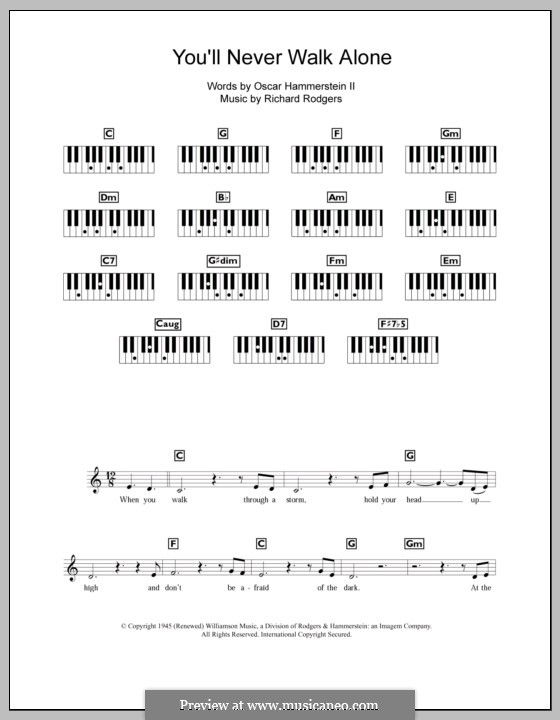 You'll Never Walk Alone (from Carousel): For keyboard by Richard Rodgers