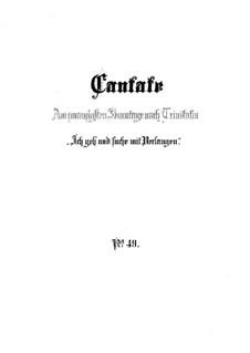 Ich geh und suche mit Verlangen, BWV 49: Full score by Johann Sebastian Bach