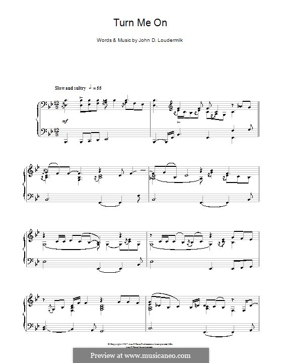 Turn Me On: For piano by John D. Loudermilk