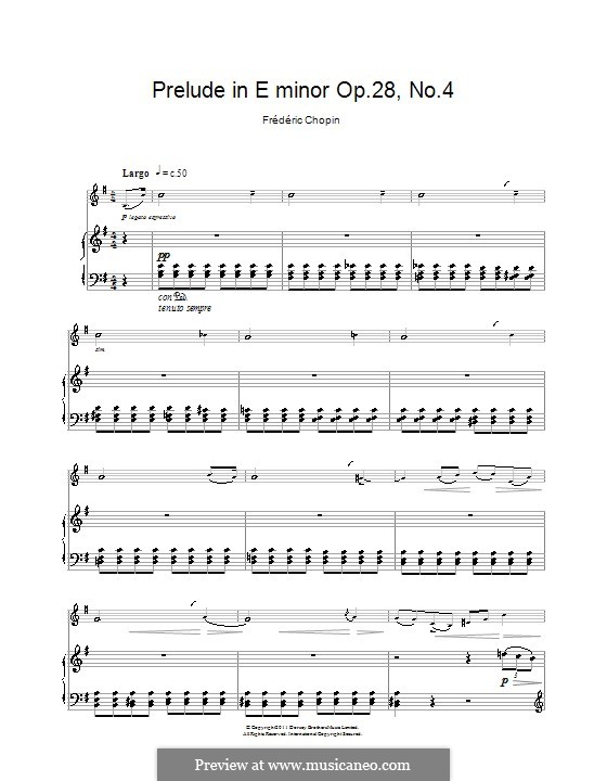No.4 in E Minor: For clarinet and piano by Frédéric Chopin