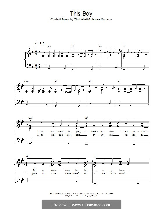 This Boy: For easy piano by James Morrison, Tim Kellett