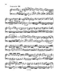 Concerto for Keyboard in G Minor, BWV 983: Concerto for Keyboard in G Minor by Johann Sebastian Bach