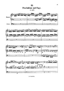 Prelude and Fugue in A Minor, BWV 551: Prelude and Fugue in A Minor by Johann Sebastian Bach