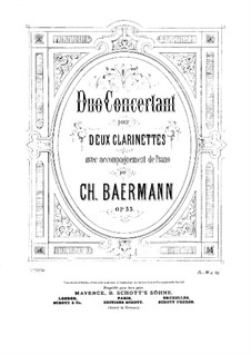 Duo Concertant for Two Clarinets with Piano Accompaniment, Op.33: Clarinet II part by Carl Baermann