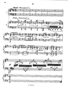 Concerto for Piano and Orchestra No.2 in E Flat Major, Op. posth.: Movement II, for Two Pianos Four Hands by Mily Balakirev