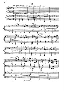 Concerto for Piano and Orchestra No.2 in E Flat Major, Op. posth.: Movement III, for Two Pianos Four Hands by Mily Balakirev