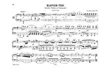 Three Piano Trios, Op.1: Trio No.2, for piano four hands by Ludwig van Beethoven