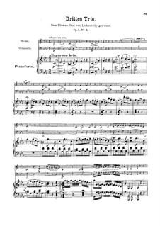 Three Piano Trios, Op.1: Trio No.3 by Ludwig van Beethoven