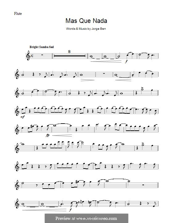 Mas Que Nada (Say No More): For flute by Jorge Ben