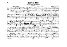 Three Piano Trios, Op.1: Trio No.3, for piano four hands by Ludwig van Beethoven