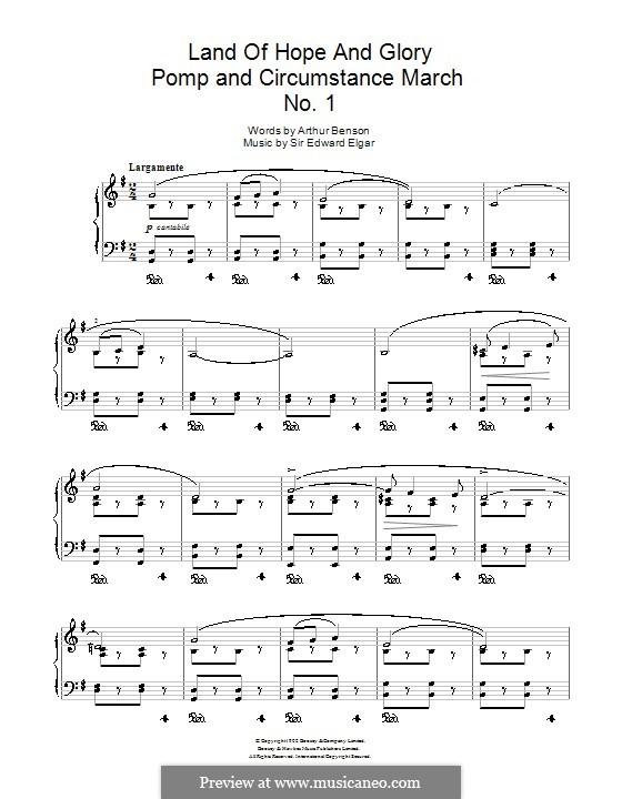 March No.1: Trio, for piano by Edward Elgar