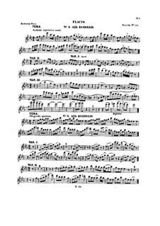 Six Themes and Variations, Op.105: Flute part (Book II) by Ludwig van Beethoven