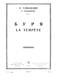 The Tempest, TH 44 Op.18: Full score by Pyotr Tchaikovsky