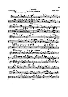 Six Themes and Variations, Op.105: Violin part (Book II) by Ludwig van Beethoven