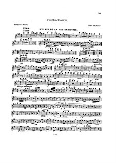 Ten Themes with Variations for Flute (or Violin) and Piano, Op.107: Book II – solo part by Ludwig van Beethoven