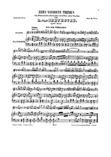 Ten Themes with Variations for Flute (or Violin) and Piano, Op.107: Book III by Ludwig van Beethoven