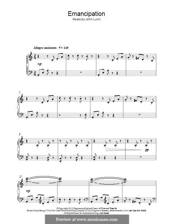 Emancipation: For piano by John Lunn