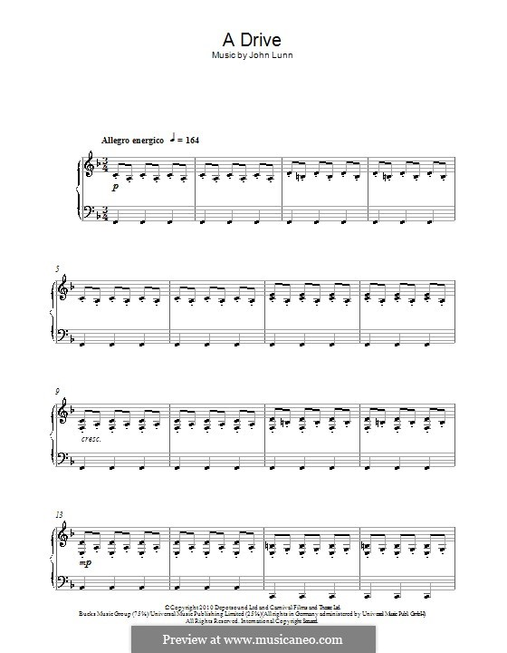 A Drive: For piano by John Lunn