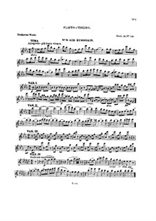 Ten Themes with Variations for Flute (or Violin) and Piano, Op.107: Book V – solo part by Ludwig van Beethoven