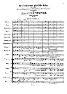 Cantata 'Calm Sea and Prosperous Voyage', Op.112: Calm Sea by Ludwig van Beethoven