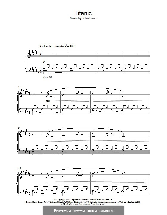 Titanic: For piano by John Lunn