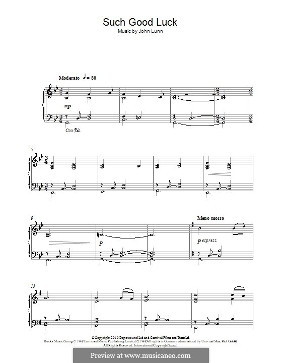 Such Good Luck (from Downton Abbey): For piano by John Lunn