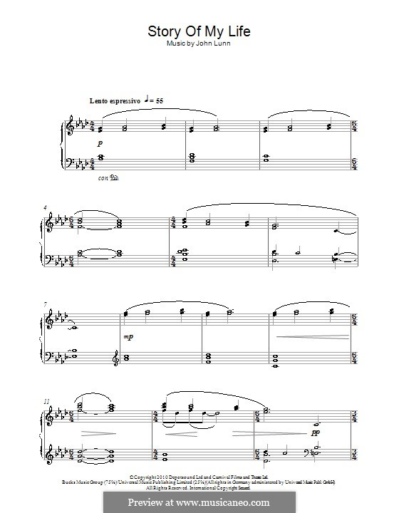 Story of My Life: For piano by John Lunn