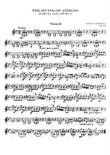 Turkish March: Violin II part by Ludwig van Beethoven