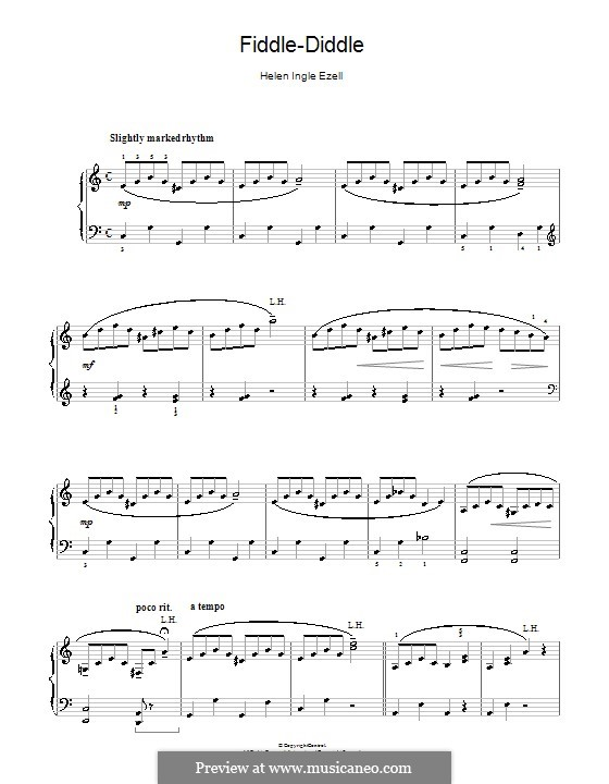 Fiddle-Diddle: For piano by Helen Ingle Ezell