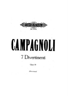 Seven Divertissements, Op.18: For violin by Bartolomeo Campagnoli