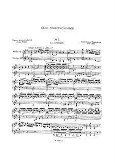 Seven Divertissements, Op.18: For two violins by Bartolomeo Campagnoli