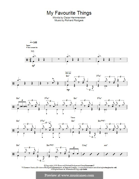 My Favorite Things (from The Sound of Music): For drums by Richard Rodgers