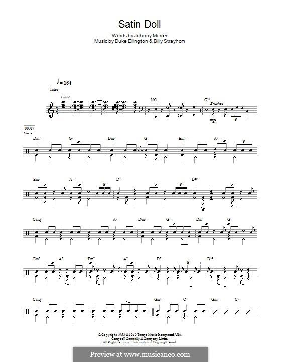 Satin Doll: For drums by Billy Strayhorn, Duke Ellington