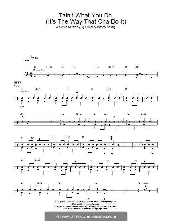 'Tain't What You Do (It's The Way That Cha Do It): Drums by James Young, Sy Oliver