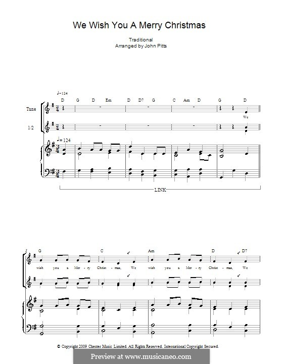 We Wish You a Merry Christmas (Printable Scores): For recorder (trio) by folklore