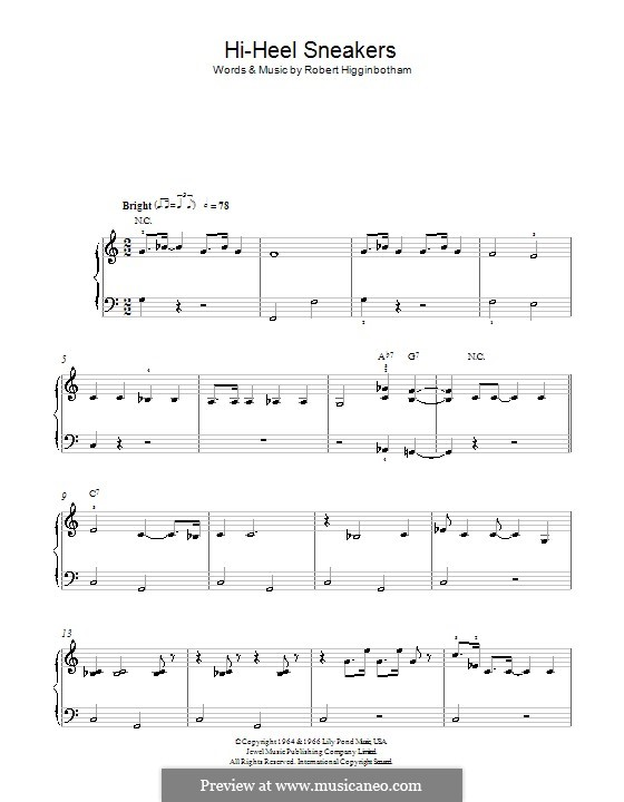 Hi-Heel Sneakers (Tommy Tucker): For easy piano by Robert Higginbotham