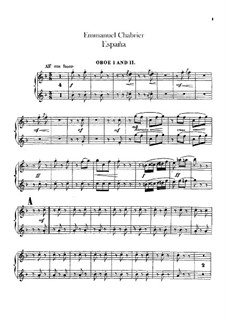 España: Oboes part by Emmanuel Chabrier
