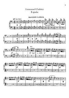 España: Bassoons parts by Emmanuel Chabrier