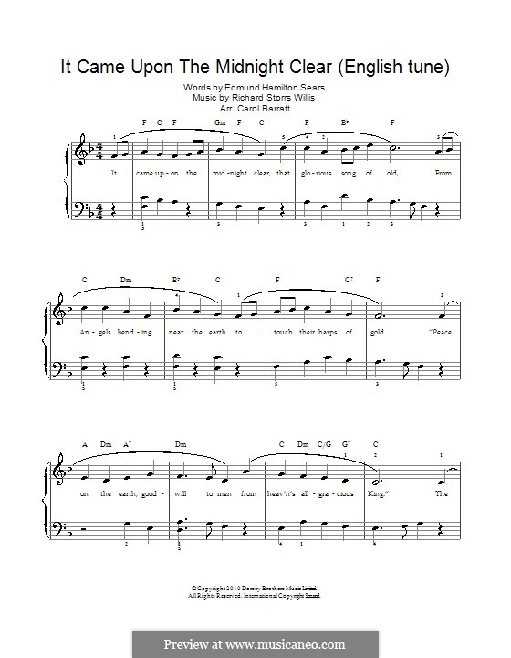 It Came upon the Midnight Clear: For voice and piano by Richard Storrs Willis