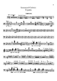 España: Percussion parts by Emmanuel Chabrier