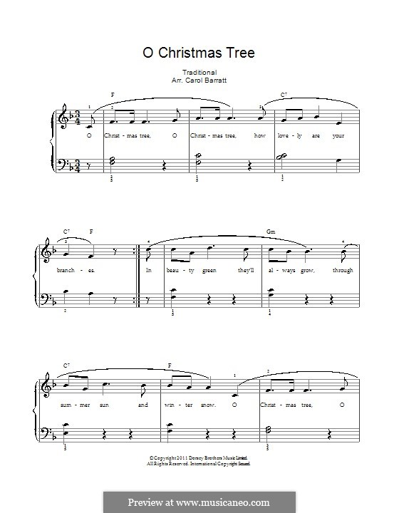 O Christmas Tree: For voice and piano by folklore