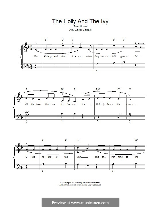 The Holly and the Ivy: For voice and piano by folklore